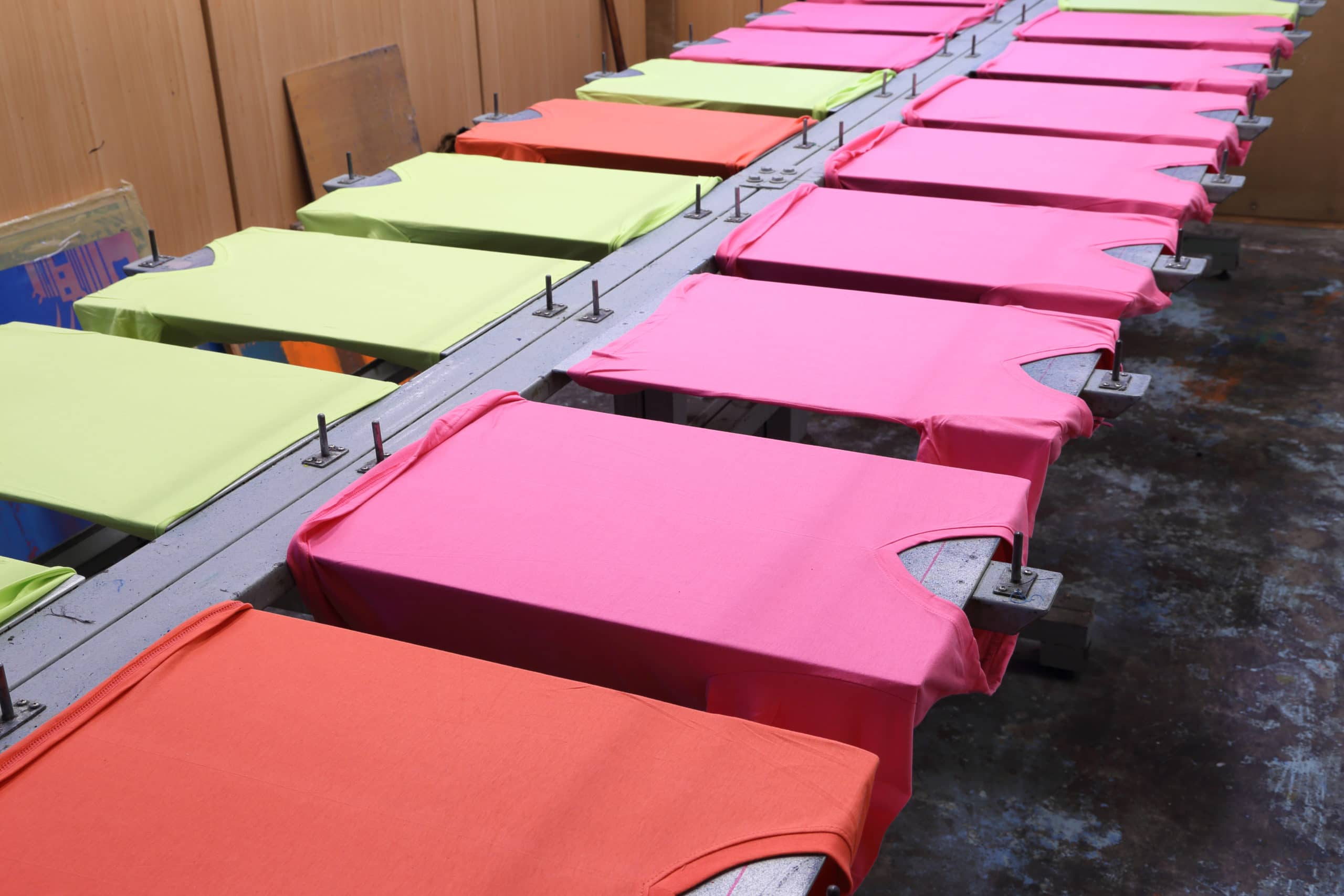Spring Colored T-shirt Production