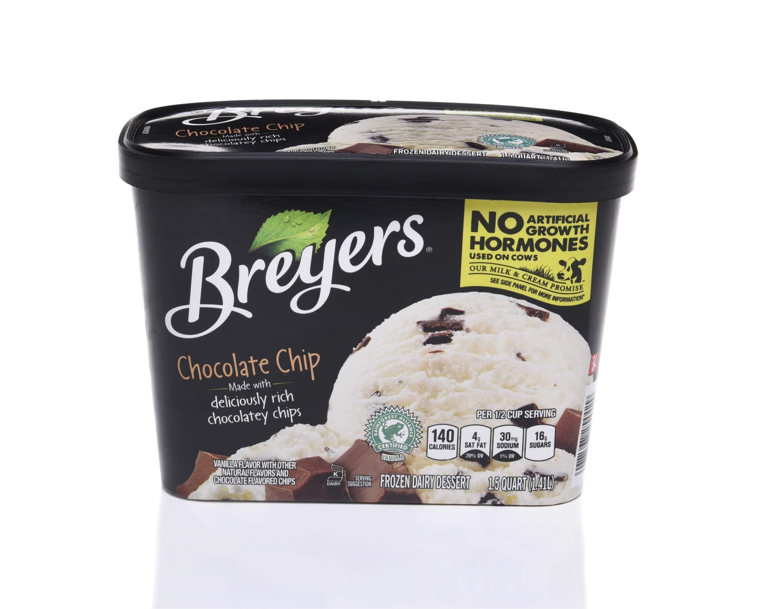 Breyers Ice Cream Container