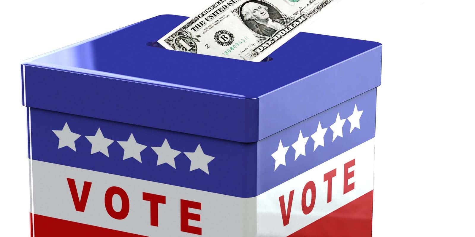 Ballot Box and Dollar Bill