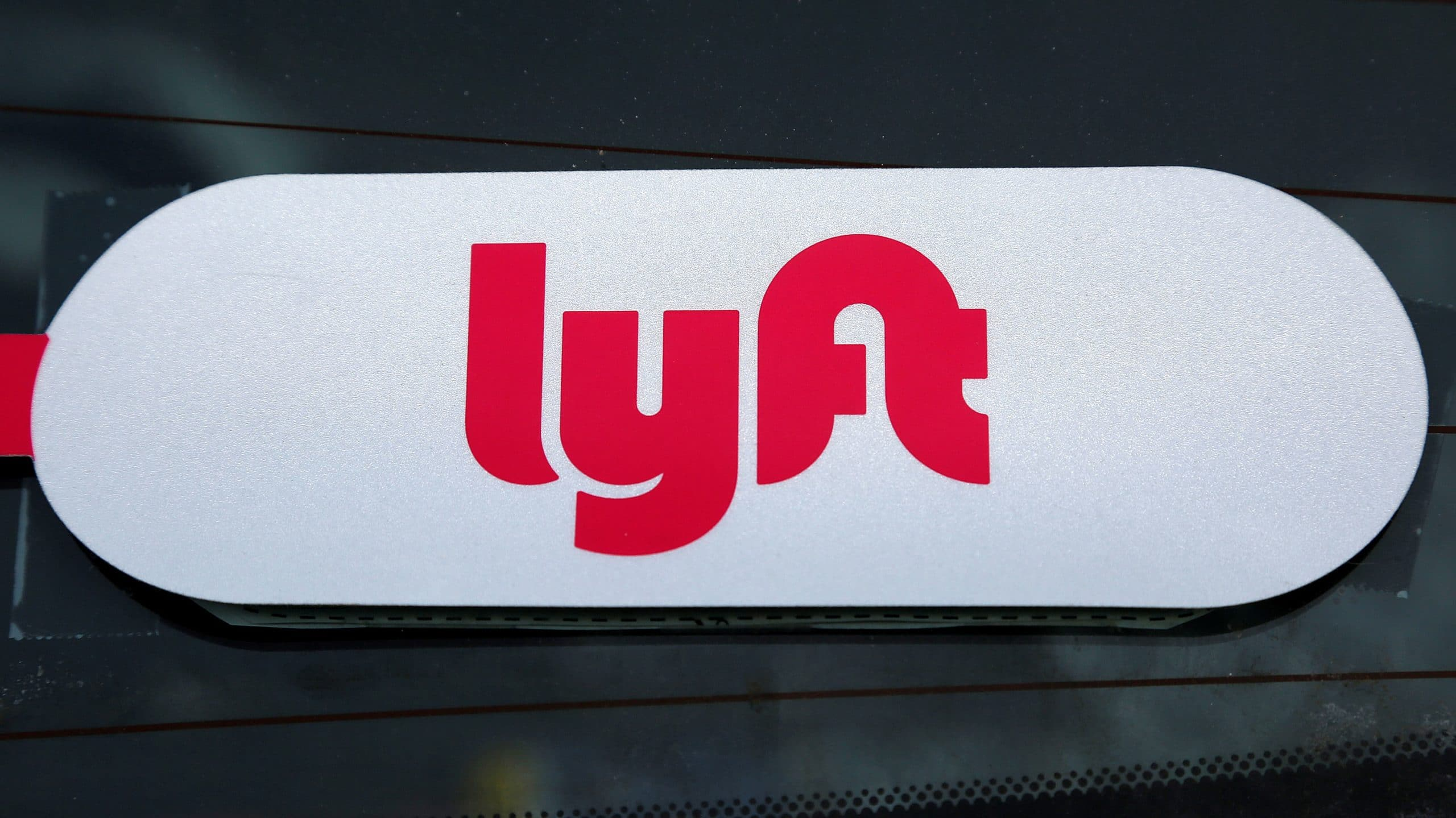 lyft sticker on car